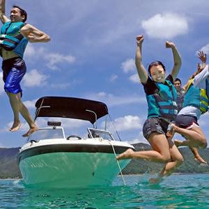 奄美大島ならではの海遊び