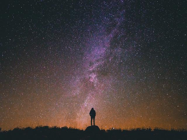 星空ポートレート撮影