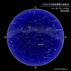 寝っ転がって流れ星を見よう!!!(ペルセウス座流星群)